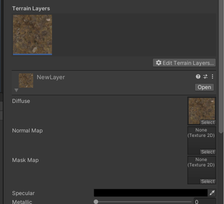 terrain layer unity